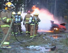 Extinguishing Car Fire