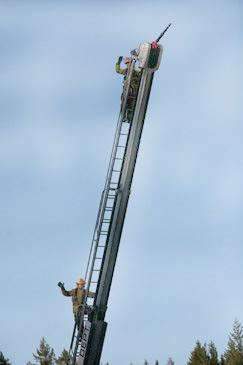 Operating a Nozzle From a High Ladder